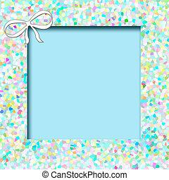 azul, mosaico, álbum de recortes, marco