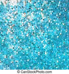 azul, mosaico, experiência., eps, 8