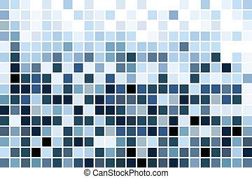 azul, mosaico, papel parede