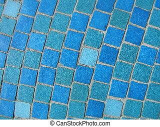 azul, mosaicos