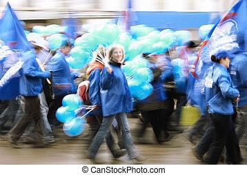 azul, movimento
