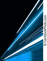 azul, movimiento