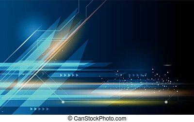 azul, movimiento, resumen, oscuridad, vector, plano de...