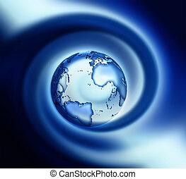 azul, mundo