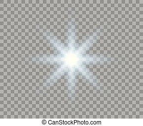 azul, natal, estouro, abstratos, flash, light., isolado, elemento, glowing, experiência., luminoso, vetorial, sun., radial, desenho, transparente, rays.
