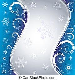 azul, natal, fundo, (vector)