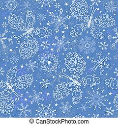 azul, natal, repetindo, padrão