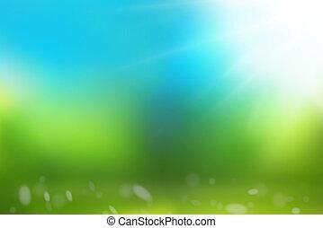 azul, naturaleza, cielo, fondo verde, pasto o césped