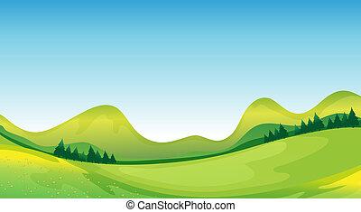 azul, naturaleza, lado, verde, madre, su