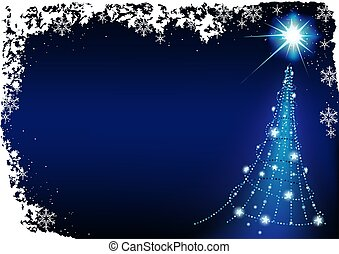 azul, navidad