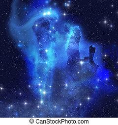 azul, nebulosa de águila
