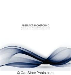 azul, negócio, wave., abstratos, vetorial, fundo, tecnologia, ou