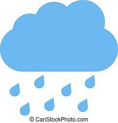 azul, nube, lluvia