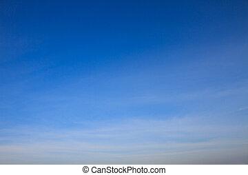 azul, nubes, cielo blanco