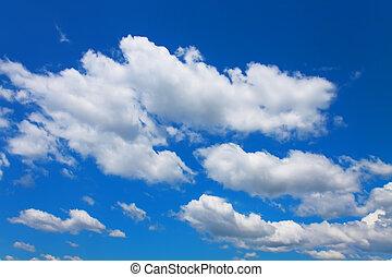 azul, nubes, cielo