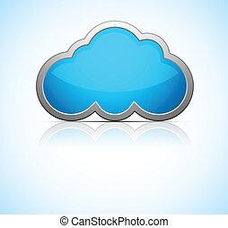 azul, nuvem