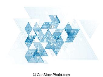 azul, olá-tecnologia, fundo