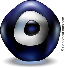 azul, olho mal