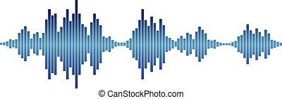 azul, ondas acústicas