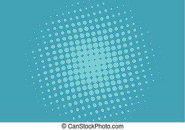 azul, ondulado, pontos, pontilhado, gradient., padrão, ponto, ilustração, halftone, grande, experiência., luminoso, vetorial, digital, scale., círculos