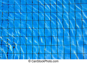 azul, ornamental, mosaico, fundo