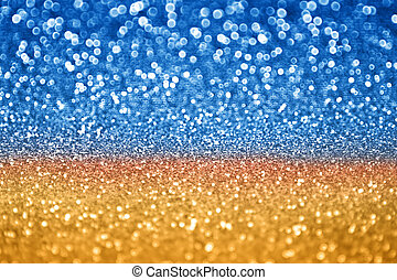 azul, oro, resplandor