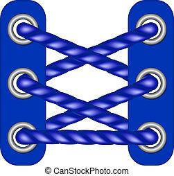 azul oscuro, diseño, cordones