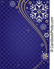 azul oscuro, marco, navidad