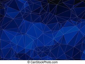 azul oscuro, resumen, polygonal, backgr