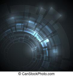 azul oscuro, resumen, técnico, plano de fondo