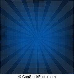 azul oscuro, sunburst, plano de fondo