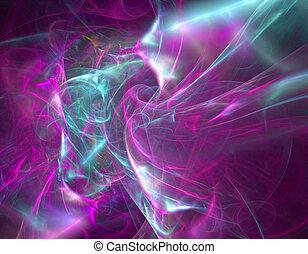 azul, púrpura, resumen, cerceta