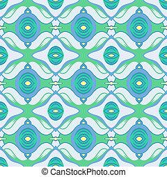 azul, padrão, árabe, vetorial, verde