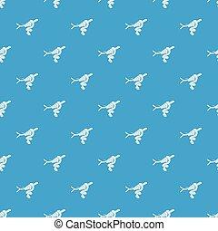 azul, padrão, árvore, seamless, vetorial, cobra