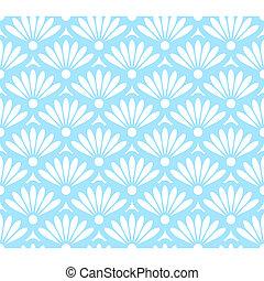 azul, padrão, abstratos, branca, seamless