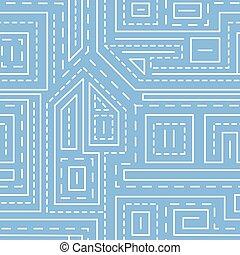 azul, padrão, abstratos, linhas, seamless, fundo