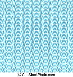 azul, padrão, abstratos, seamless, ondas