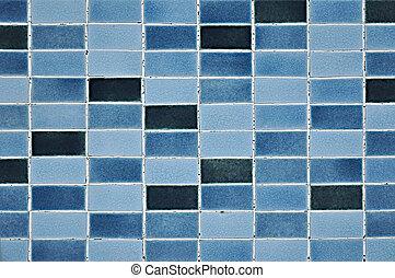 azul, padrão, antigas, azulejo