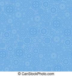 azul, padrão, cogwheels