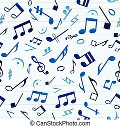 azul, padrão, música, seamless
