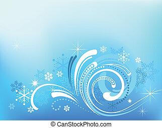 azul, padrão, natal