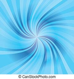 azul, padrão, onda
