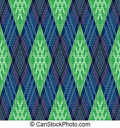 azul, padrão, rhombic, verde, seamless