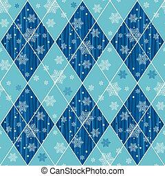 azul, padrão, rhombuses, natal, seamless