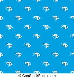 azul, padrão, seamless, uma pessoa, barraca