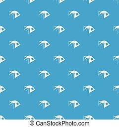 azul, padrão, seamless, uma pessoa, vetorial, barraca