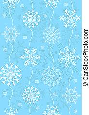 azul, padrão, seamless, (vector), natal