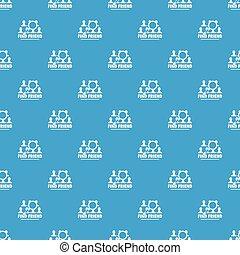 azul, padrão, seamless, vetorial, amigos, achar