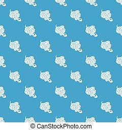 azul, padrão, seamless, vetorial, cobra, jibóia