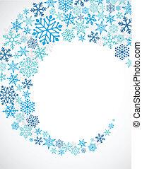 azul, padrão, snowflakes, fundo, natal